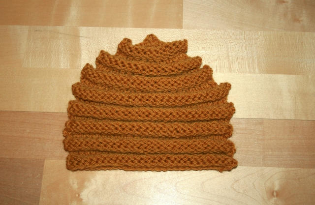 Knitted Behive Tea Cosy 1 side