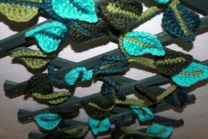 Crochet Leaf Garland 2