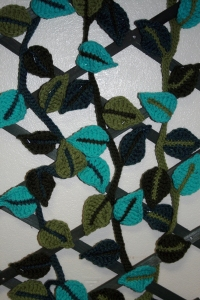 Crochet Leaf Garland 3