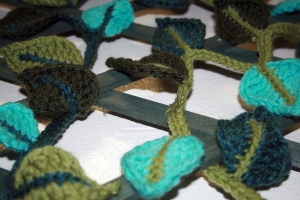 Crochet Leaf Garland 4