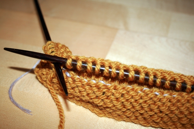 Pick up row with thread
