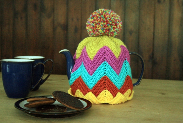 Crochet Ripple Tea Cosy2