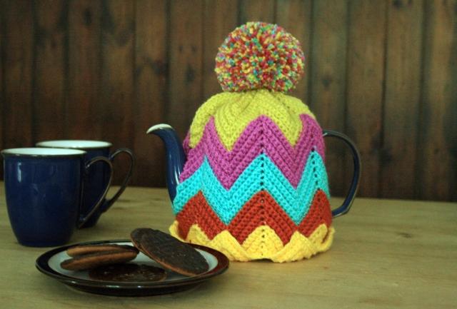 Crochet Ripple Tea Cosy2