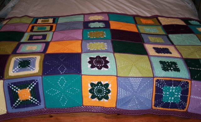 Crochet Scheepieswol Blanket Complete
