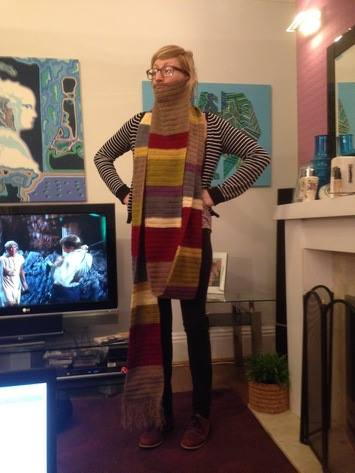 Deb's Dr Who styled scarf and beard