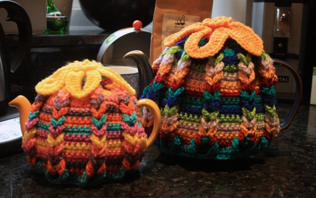 Crochet Hot Hibiscus Tea Cosies