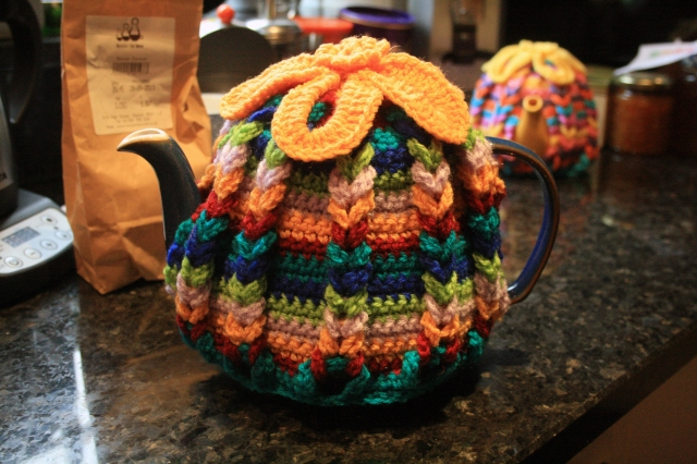 Crochet Hot Hibiscus Tea Cosy Large