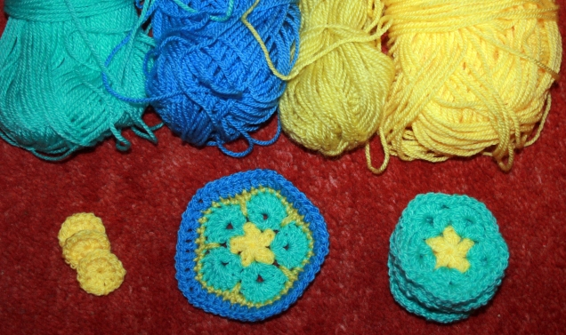 Making Crochet African Flowers