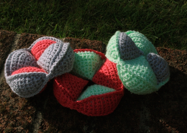 Crochet Amish Puzzle Ball Pieces