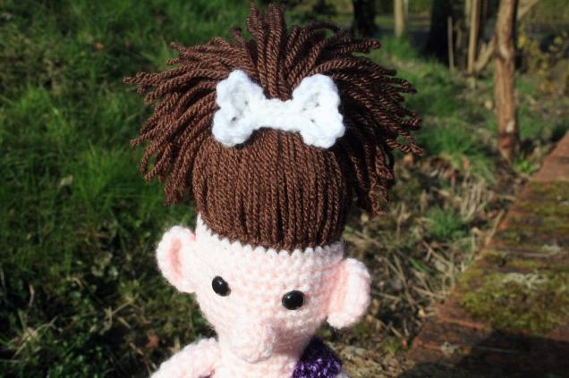 Crochet Cavegirl Bone Hair clip