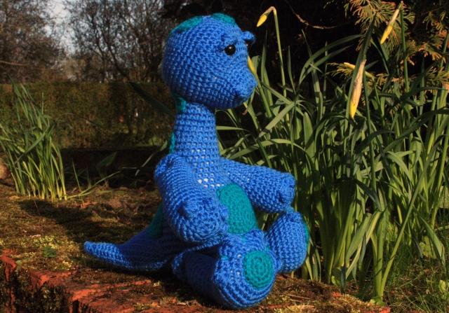 Crochet Dinosaur Monty Diplodocus Side View