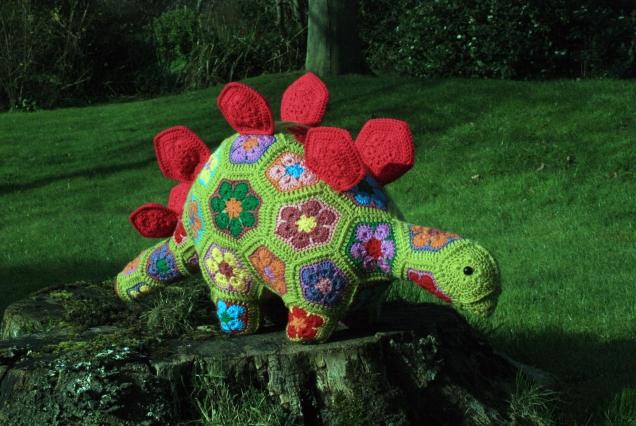 Heidi Bears Crochet African Flower Stegosaurus