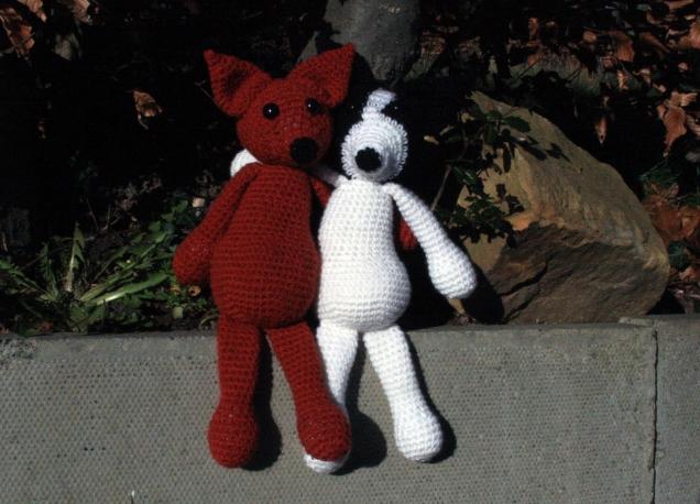 Crochet Rolo and Roxy Best friends 1
