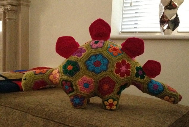 Crochet Stegosaurus Complete