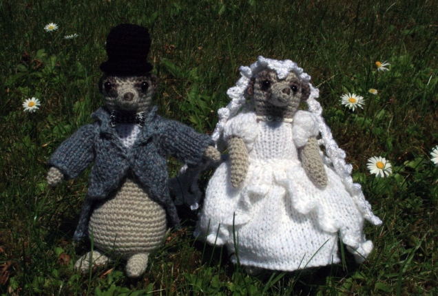 Crochet Meercat Bride and Groom
