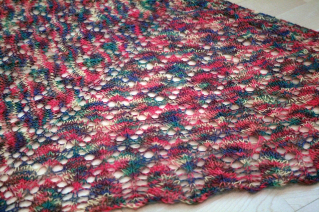Lace Leaf Shawl Post Blocking