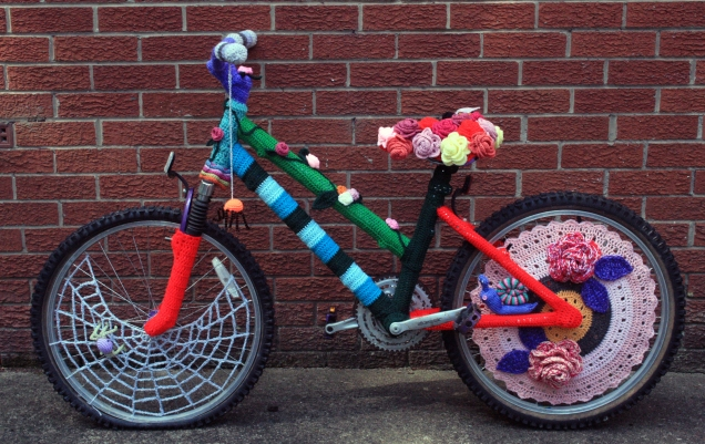 Country Garden Crochet Bicycle