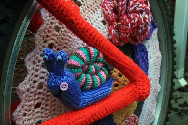 Knitted Snail Rear Wheel