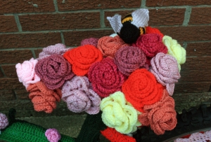 Crochet Roses Bicycle Seat