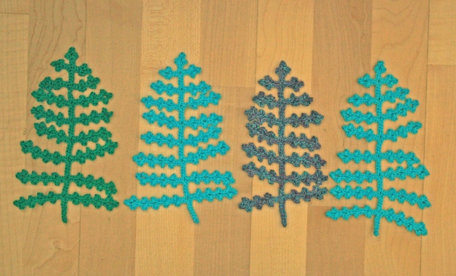 Crochet Fern Leaves Large