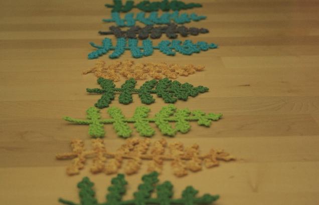 Crochet Fern Leaves Line 2