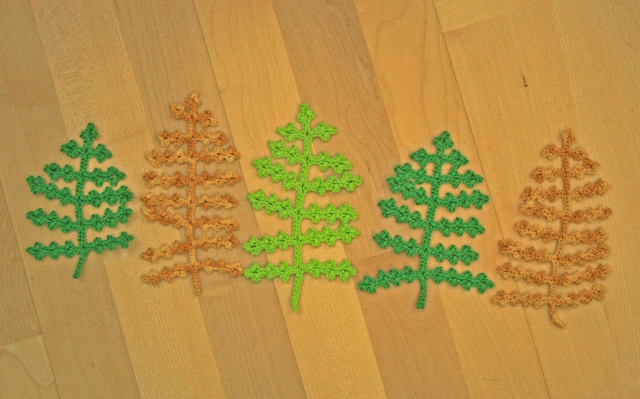Crochet Fern Leaves