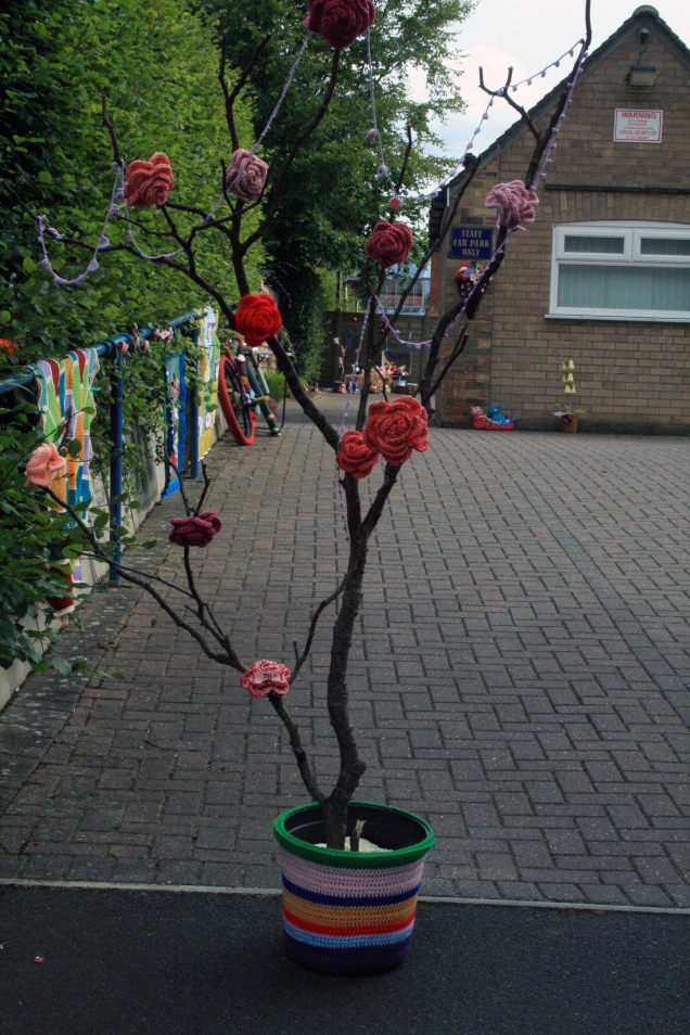 Crochet Rose Tree