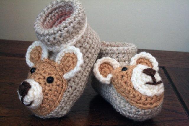 Teddy Baby Booties