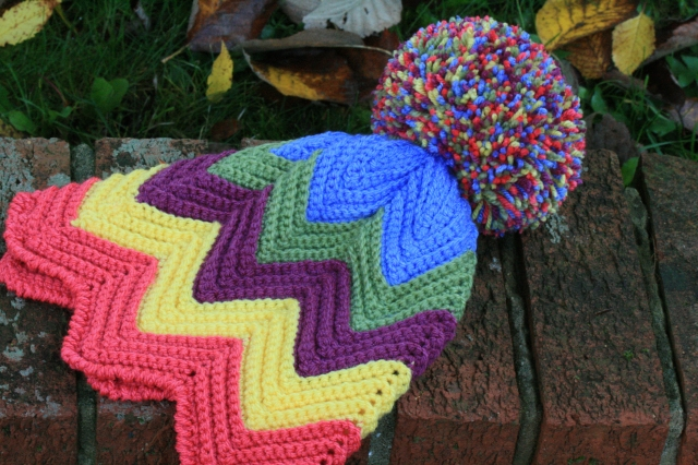Zig Zag Crochet Hat